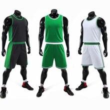 Мужские баскетбольные Джерси с принтом на заказ, зеленые спортивные костюмы для колледжа, дышащая мужская баскетбольная форма, спортивная одежда для девочек