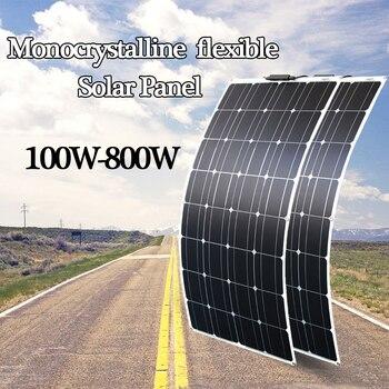 цена на RG Solar panel 200W to 800w Semi Flexible Solar Panel Mono Cell For RV Boat Yacht Car Caravan Charger