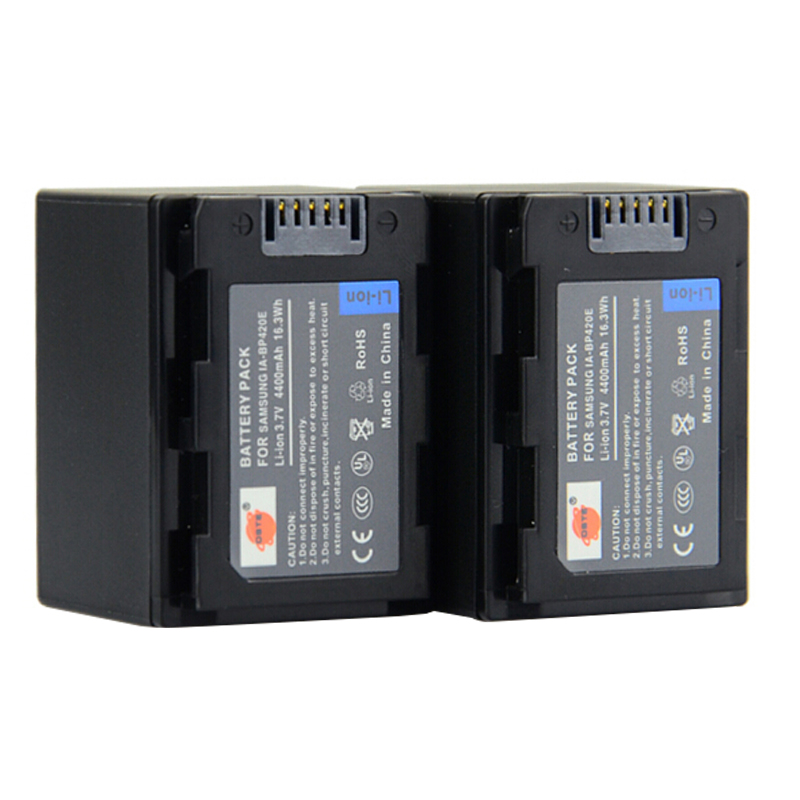 2pc <font><b>4400mAh</b></font> <font><b>3.7V</b></font> IA-BP420E BP420E BP420 DSTE Camera <font><b>Battery</b></font> Charger for SAMSUNG F40 F50 F70 F54 H200 H204 H205 H300 H304 H305 image