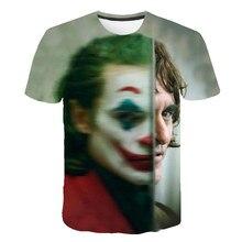Новинка, Лидер продаж, футболка клоуна для мужчин/wo, для мужчин, Джокер, лицо, 3D принт, террор, модные футболки крутой характер, Джокер Харадзюку, одежда