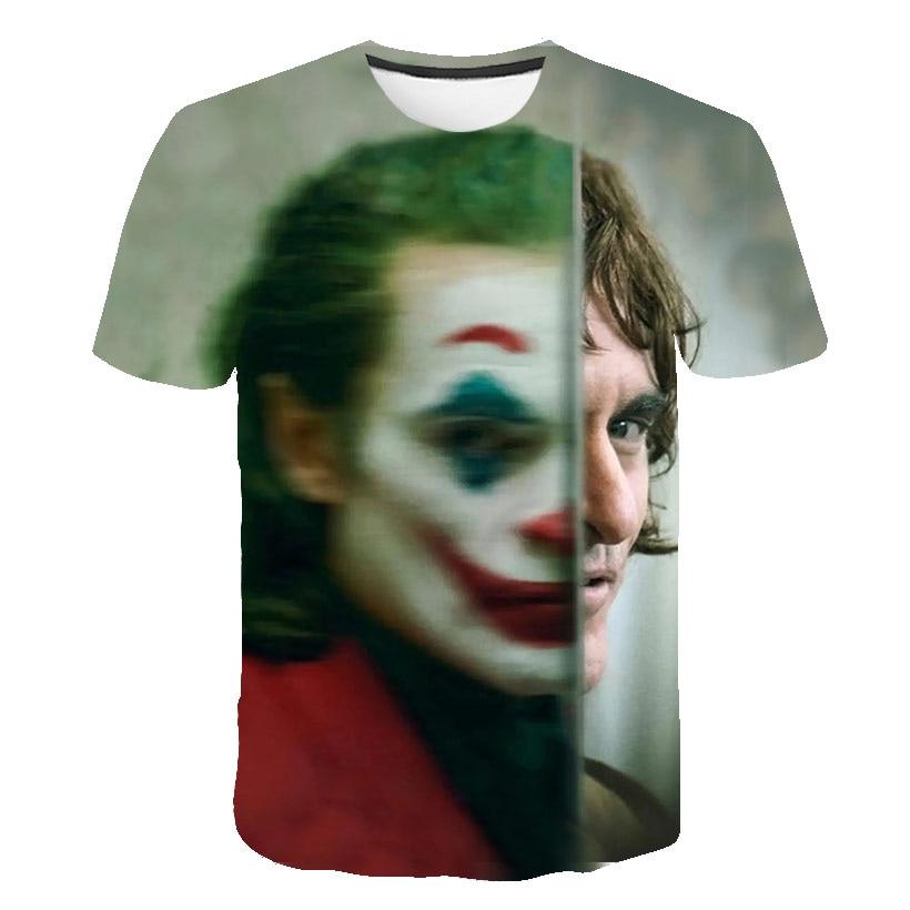New Hot Sale Clown T Shirt Men/women Joker Face 3D Printed Terror Fashion T-shirts Cool Character Joker Harajuku Clothing