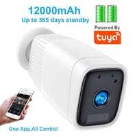 Caméra extérieure imperméable intelligente de WiFi de Tuya de caméra IP à piles de 1080P avec l'interphone Audio bidirectionnel détection de mouvement de PIR
