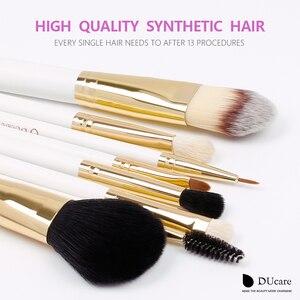 Image 3 - DUcare 8PCS Makeup Brushes Natural hair Makeup brush set with Bag Foundation Powder Brush Eyeshadow Brushes  Travel Makeup Set