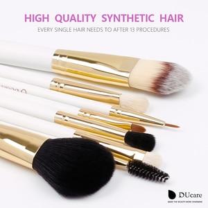 Image 3 - DUcare 8PCS Spazzole di Trucco Naturale dei capelli spazzola di Trucco set con il Sacchetto Prodotti Di Base In Polvere Pennello Ombretto Pennelli di Trucco di Viaggio Set
