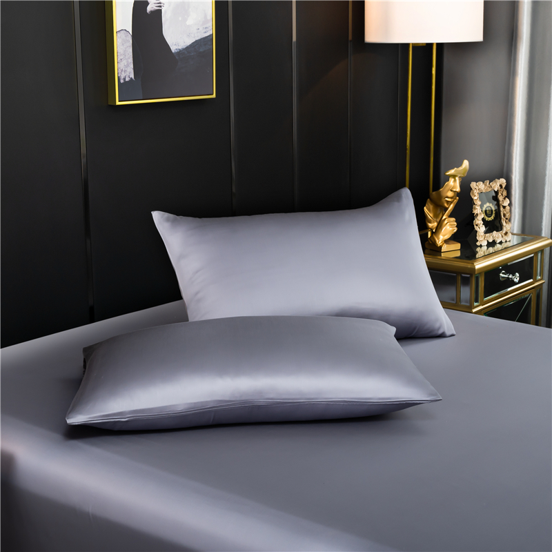 Natural mulberry silk pillowcase High end quality Pure Silk pillow case solid color Envelope pillow cover
