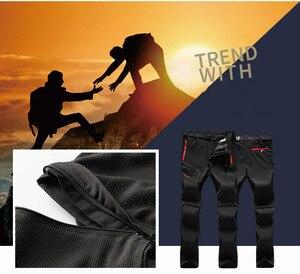 Image 4 - Мужские походные брюки размера плюс, 6XL, новые, летние, популярные, для пеших прогулок, рыбалки, кемпинга, скалолазания, бега, большие, водонепроницаемые, уличные штаны