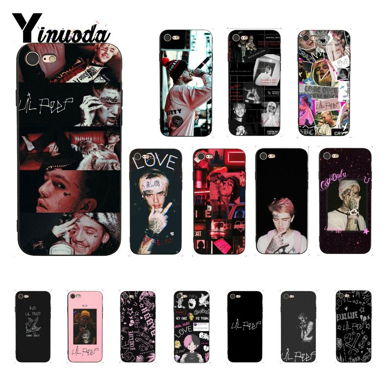 Yinuoda <font><b>Lil</b></font> <font><b>Peep</b></font> <font><b>Lil</b></font> Bo <font><b>Peep</b></font> Cover Black Soft Shell Phone <font><b>Case</b></font> for <font><b>iPhone</b></font> <font><b>8</b></font> 7 6 6S Plus X XS MAX 5 5S SE XR 10 <font><b>Cases</b></font> image