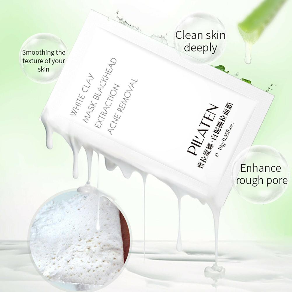 White Clay Peel-Off Facial Cleaning Mask Blackhead Acne Horny Remove Face Skin Care