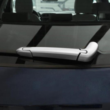 for jaguar f pace f pace x761 2016 2017 2018 abs matte interior rear door storage box cover trim car accessories styling 2pcs ABS Chrome For Jaguar F-Pace X761 2016 2017 Accessories Auto Rear Wiper Strip Cover Trim Sticker Car Styling 3Pcs