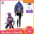 ROLEOCS KDA Akali маскарадный костюм супергероини KDA Косплей Костюм Akali маска микрофон женский наряд зимнее пальто игра Хэллоуин костюм