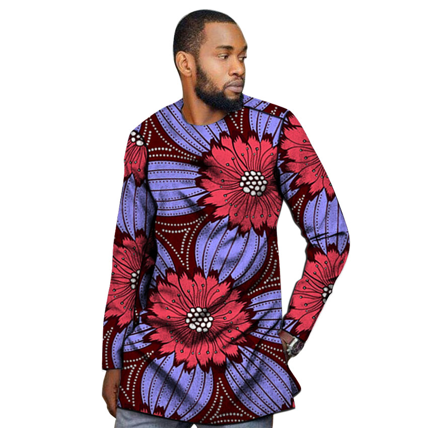 Image 3 - African outfits men's shirt custom made Ankara o neck dashiki print groom tops male formal Africa clothing-in Tuxedo Shirts from Men's Clothing