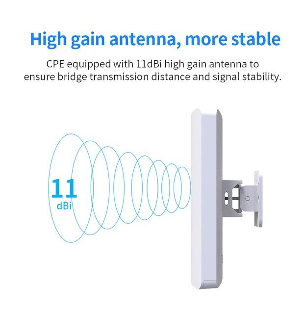 Фото 58g 300 мбит/с открытый wifi cpe беспроводной мост wi fi ретранслятор цена