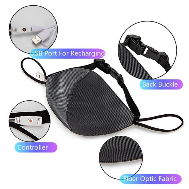 EDM Flashing LED Mask  4