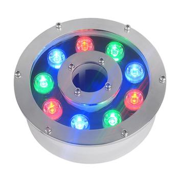 цена на DMX512 Control Module RGB 9W Round Underwater LED Lights DC 24V Waterproof IP68 CE RoHS Outdoor Pond Lamps Fountain Lamp
