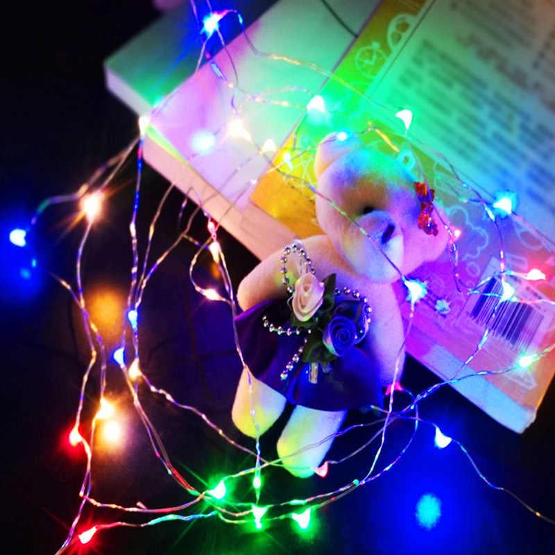 أضواء سلسلة جنية led 1M 2M 3M 5M 10M 12M USB بالطاقة/بطارية تعمل بالطاقة الديكور الطوق عيد الميلاد شجرة في الهواء الطلق ضوء