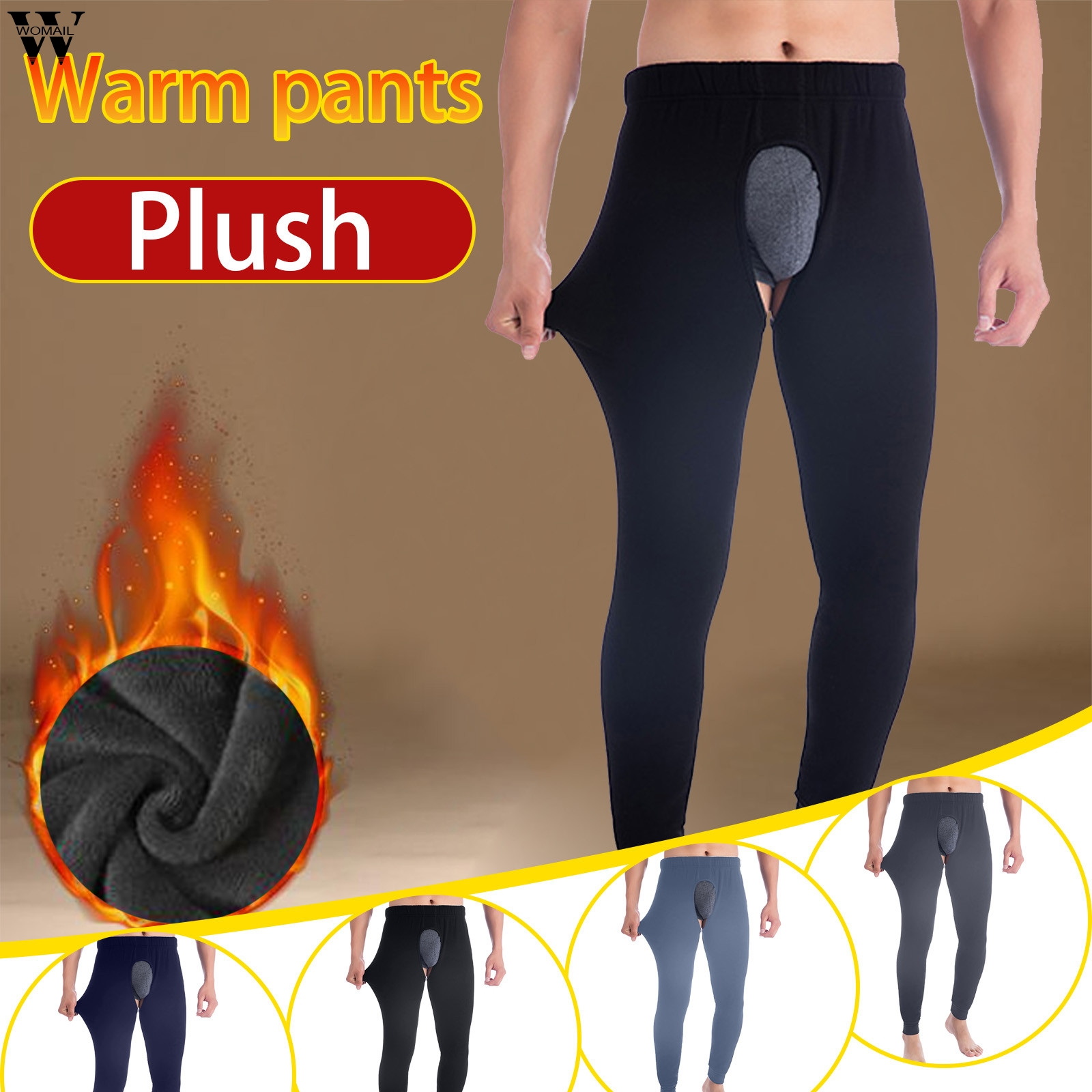 2021 New Thermal Underwear Men Autumn winter Thicken Warm Thermal Underwear sexy Long johns Hombre Underpants Leggings long pant