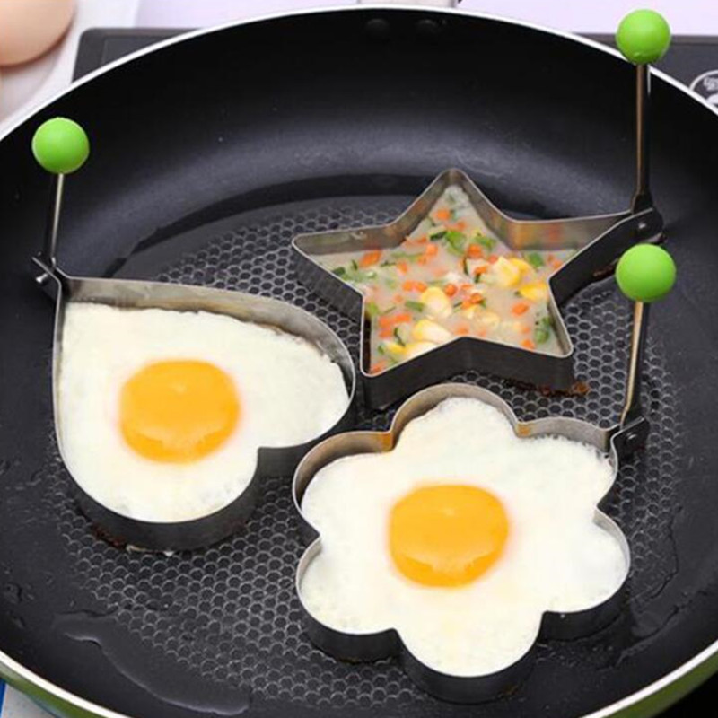 Stainless Steel Fried <font><b>Egg</b></font> <font><b>Holder</b></font> Kitchen Utensils <font><b>Egg</b></font> Cooker <font><b>Silicone</b></font> Mold Non-stick Skillet Kitchen Tools Accessories image