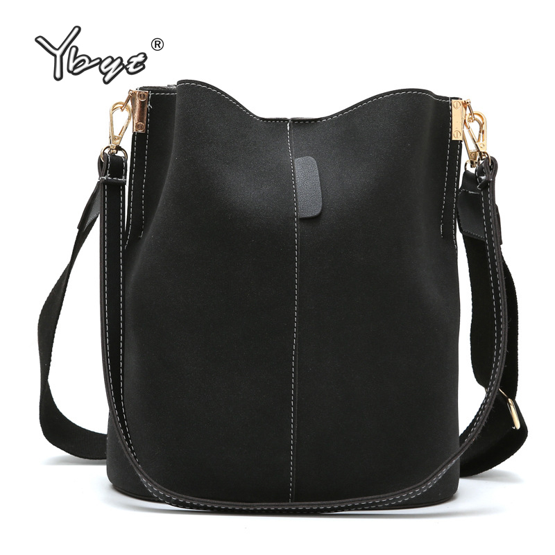 YBYT Retro Nubuck Women Leather Handbags Crossbody Bags For Women Large Capacity Vintage Shoulder Shopping Bag Torebki Damskie