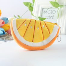 Watermelon Fruit Kawaii Cartoon Children Plush Purse Zip Change Purses Coin Bag Wallet Kids Girl Women For Gift 2020(China)