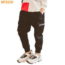 VFOCHI New 4-14Y Boys Pants Autumn Winter Fashion Kids Trousers Pencil Pants Teenage Boy Clothing Elastic Waist Boy Cargo Pants цена и фото