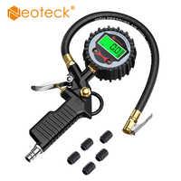 Neoteck Digital Car EU Tire Air Pressure Inflator Gauge LCD Display LED Backlight Vehicle Tester Inflation Monitoring Manometro