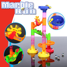 29PCS DIY Marble Run Race Set Railway Building Construction Building Blocks for Children 3D Labyrinth Ball Maze Track Kids Toys candice guo plastic toy children block track ball building blocks 74pcs diy maze marble run construction system race deluxe gift