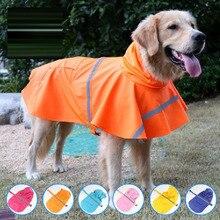 New pet raincoat dog Labrador Golden Retriever large and medium reflective waterproof snowproof big clothes