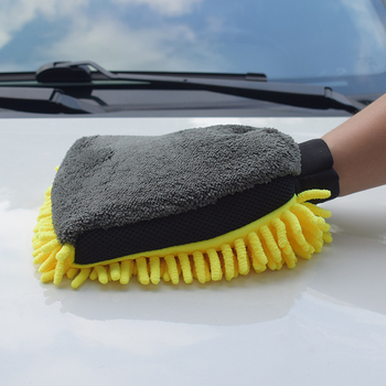 Car Cleaning Tool Car Wash Gloves Soft Absorbancy Glove Auto Detailing Wash Mitt Cloth Soft and Thick Microfiber Glove