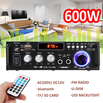 600w Home Amplifiers Audio bluetooth Amplifier Subwoofer Amplifier Home Theater Sound System Mini Amplifier Professional tiancoolkei wl01 a professional professional headphone amplifier hifi bass phone headset audio amplifier