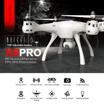 SYMA X8PRO GPS DRON WIFI FPV with with 720P HD Camera Adjustable Camera Drone 6axis Altitude Hold X8 Pro RC Quadcopter RTF MODE2