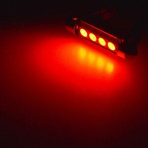 4x C5W C10W светодиодный Canbus лампы 5050 SMD гирлянда красный белый 41 мм 42 мм купольный светильник для чтения лампа для салона автомобиля светильник ...