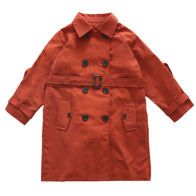 2020 Big Kid`s Outerwear Cotton British Style Trench Coat for Girls Fashion Long Windbreaker Jackets, (1)