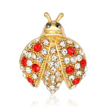 New cartoon seven-star ladybug dress brooch Korean version of alloy animal pin woman decorated corset