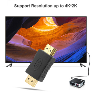 Image 2 - HDMI to HDMI Male to Male Connector Coupler Gold plated 4K HDMI Cable Extender Adapter Converter for HDTV Laptop Projector
