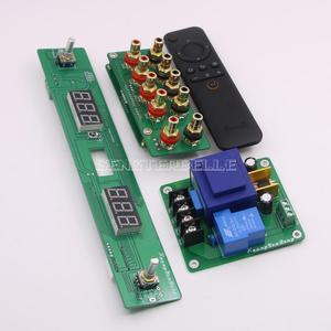 Image 2 - 組み立て 128 ステップリレーリモートボリュームコントロールボード hifi プリアンプボード純粋な抵抗シャントボリュームコントローラ