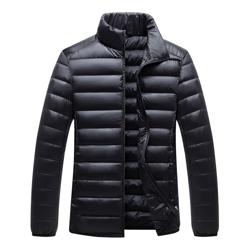 2019 Winter White Duck Down Jacket Men Stand Collar Casual Handsome Men's Lightweight Down Jacket Men