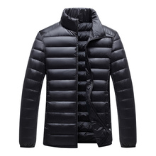 2019 winter white duck down jacket men stand collar casual h
