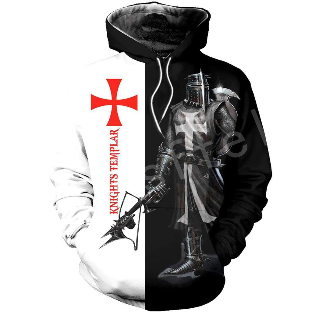 Tessffel Knights Templar Art Tracksuit 3D Full Printed Hoodie/Sweatshirt/Jacket/Men Women HIP HOP Casual Harajuku Style-9
