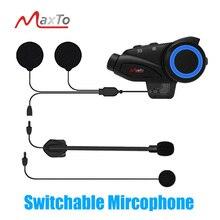 Maxto M3 Wasserdichte Motorrad 6 Fahrer Bluetooth WIFI Video Recorder Universal Paarung für Volle/Halbe Gesicht Helm Intercom DVR