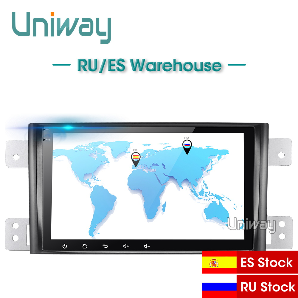uniway AWTL8071 2G+32G android 9.0 car dvd for suzuki grand 2006-2011 vitara multimedia car radio stereo gps with steering wheel