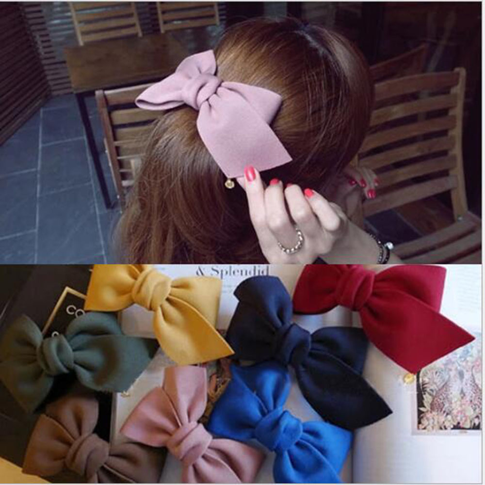 2019 Korean Style Hair Ornaments Flower Hair Clip Fashion Cute Hairpins Gig Bow Hair Clip For Women Hair Accessories