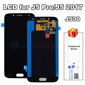 100% tested AMOLED Samsung Galaxy J5 2017 J5 Pro 2017 LCD J530 J530M J530F display with touch screen assembly Replacement AAA 100% tested lcd for samsung galaxy j530 lcd j5 2017 display touch screen lcd digitizer assembly for samsung j530f j5 pro 2017
