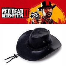 Gra czerwony martwy odkupienie 2 kapelusz kowbojski przebranie na karnawał Prop kapelusze skórzany Unisex parasol żaba kapelusz Anime kapelusz
