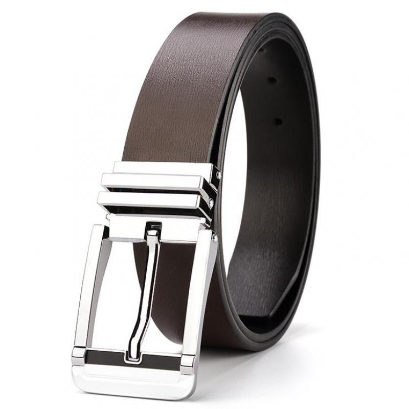 New high-end high-quality belt men's leather explosive business casual belt youth high-quality zinc alloy pin buckle jeans belts