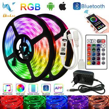20M 30M LED diody na wstążce Bluetooth RGB SMD 5050 nie wodoodporna 2835 elastyczna taśma dioda DC sterowanie przez WIFI + Adapter tanie i dobre opinie TULU CN (pochodzenie) Bedroom 30000 PRZEŁĄCZNIK Taśmy 3 84 w m Epistar 7000K 12 v Smd5050 LED Strip 5050 2835 2835 5050