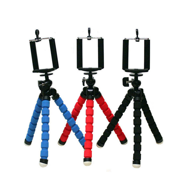 Car Phone Tripod Holder Flexible Octopus Leg Bracket Mount Monopod Adjustable Accessories For IPhone Mini Camera Tripod
