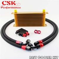 10 Row Trust Oil Cooler Kit For BMW N54 Twin Turbo 135 E82 335 E90 E92 E93|oil cooler kit -