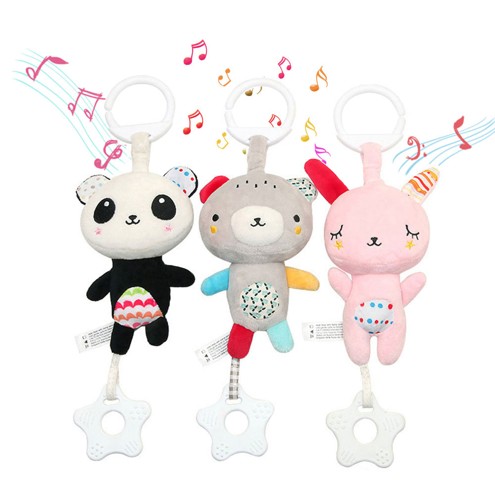 Baby Music Toys 0-12 Months Rattle Bed Bell Newborn Baby Mobile Toy Animal Pendant Crib Baby Stroller Toy Good Soft Plush Gifts