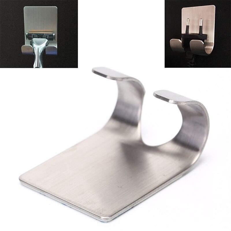 304 Stainless Steel Razor Holder Shaving Razor Rack Bathroom Viscose Razor Hook Men Shaving Shaver Shelf