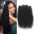 LINKELIN 30 дюймов глубокая волна человеческих волос пряди бразильских волос Плетение натуральный Цвет Remy Пряди человеческих волос для наращив...